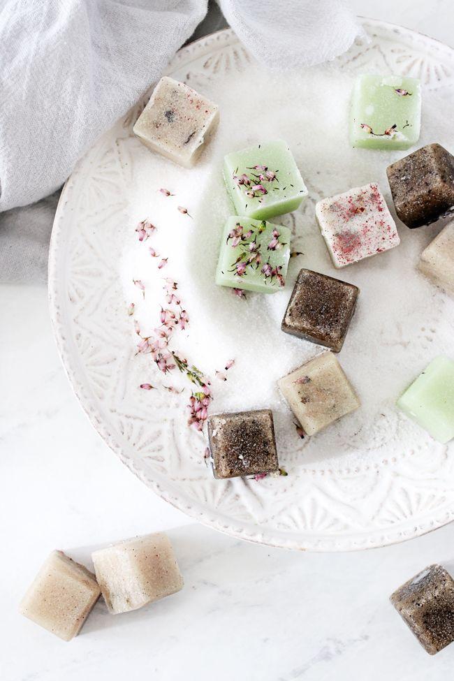 DIY Sugar Scrub Cubes