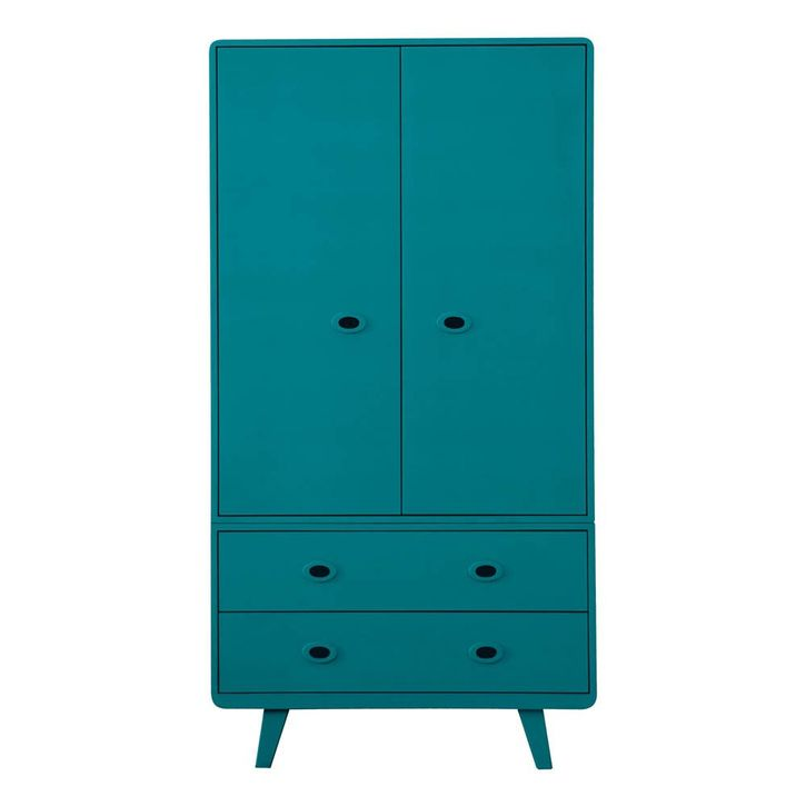 Laurette Toi et Moi children's wardrobe in turquoise. Several other color choices available.