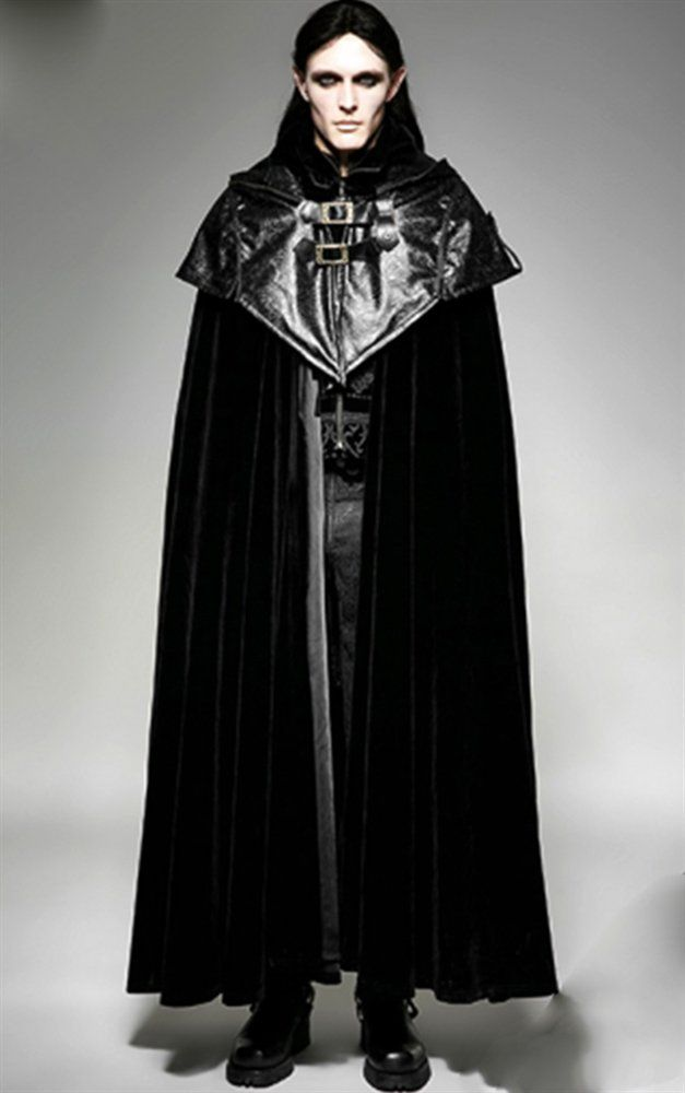 Punk Rave Mens Velvet Phantom Cloak                              Another eye catching mens cloak from  Punk Rave! The Phantom cloak is made from a dramatic black velvet, and fastens around your neck u...