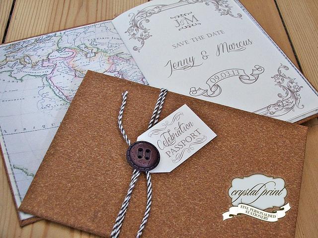 cork passport invite by crystalprint, via Flickr