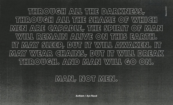 The anthem by ayn rand an