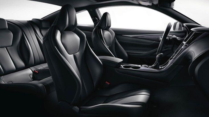 Semi Aniline Premium Graphite Leather Seating Highlighting 8 Way Power Sport Type Front Seats Infiniti Usa Coupe Car Seats