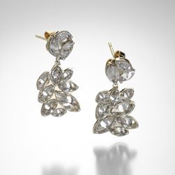 Inverted Marquis Diamond Earrings,Todd Pownell