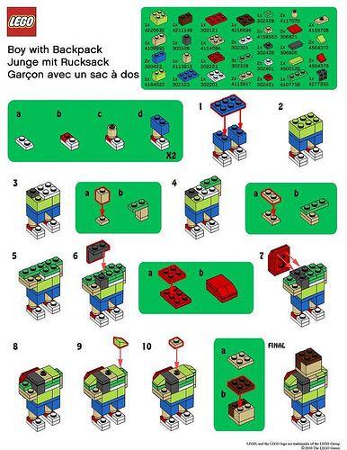 lego business card holder instructions