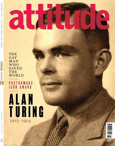 """Attitude Magazine unveils Alan Turing cover: """"The gay man who saved the world"""""""