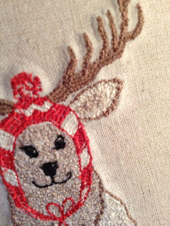 Christmas Card Machine embroidery from an original design at Etsy by BonitoFracaso #Dawanda #BonitoFracaso #Christmas-cards #Embroidery