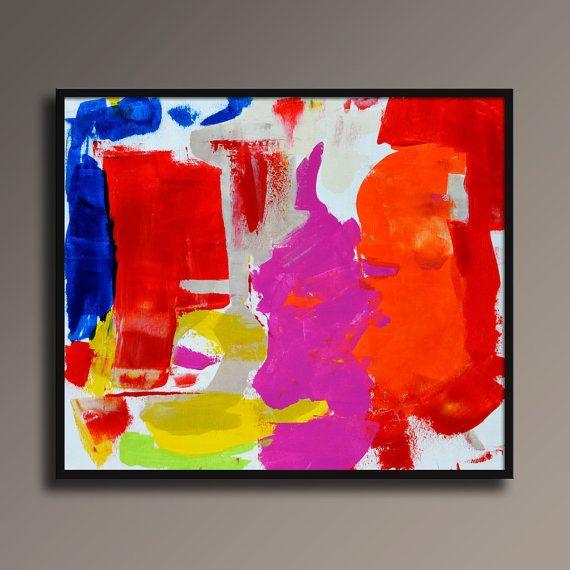 ABSTRAKTE MALEREI WEIß BLAU ROT ORANGE GELB MAGENTA-MALEREI GROßE MODERNE WAND KUNST ORIGINAL ZEITGENÖSSISCHE LEINWAND KUNST ACRYL MALEREI HAUS DEKOR  Um Informationen über das Gemälde zu sehen, klicken Sie bitte ZOOM, um die Bilder zu vergrößern.  ---Der schwarze Rahmen nicht enthalten!!! ------- ---Die Bilder werden ohne Rahmen geliefert!!! ---------  Dies ist ein original Acrylbild auf Leinwand UNGEDEHNTE.  Das Schiff wird direkt aus meinem Atelier.  Zum Schutz von Malerei auch beim…