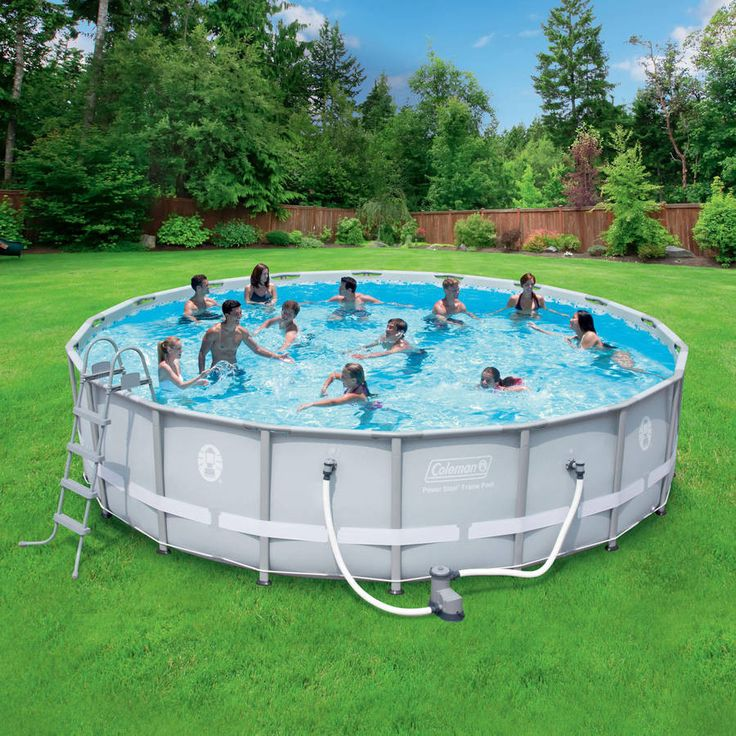 18 x 48 Steel Frame Above-Ground Easy Setup Outdoor Swimming Pool Set w Ladder & Filter