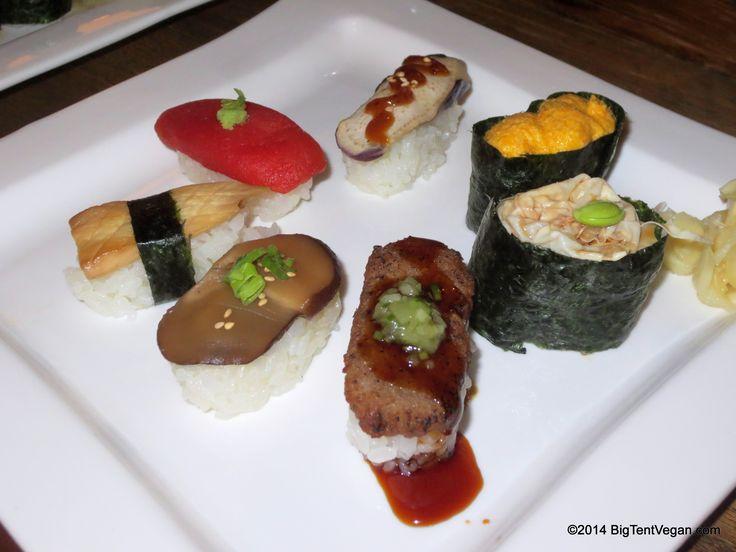 Vegetable Sushi, Chef Isamu Kubota, Yuzu Restaurant, Ala Moana Hotel, Honolulu, HI #vegan
