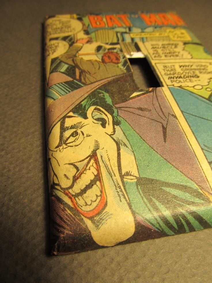 Unique DC Comics' Batman and Joker comic book lighting switch cover. $7.99, via Etsy.