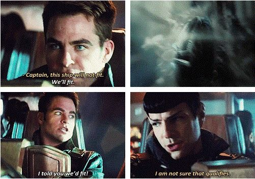 Spock sass at its finest. Star Trek Into Darkness.
