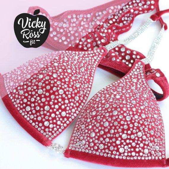 Lava Red Pro Designer Wettbewerb NPC IFBB WBFF Bikini Posing Anzug für Frauen von …   – Products
