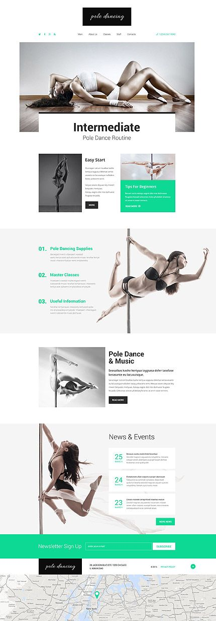 Pole-Dance-Website Vorlage #html #javascript