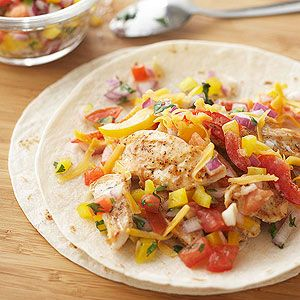 Fajita-Ranch Chicken Wraps Looking for 30-minute meals? This easy chicken recipe shaves 10 minutes off that time. Quick-cooking chicken breast strips make it happen!