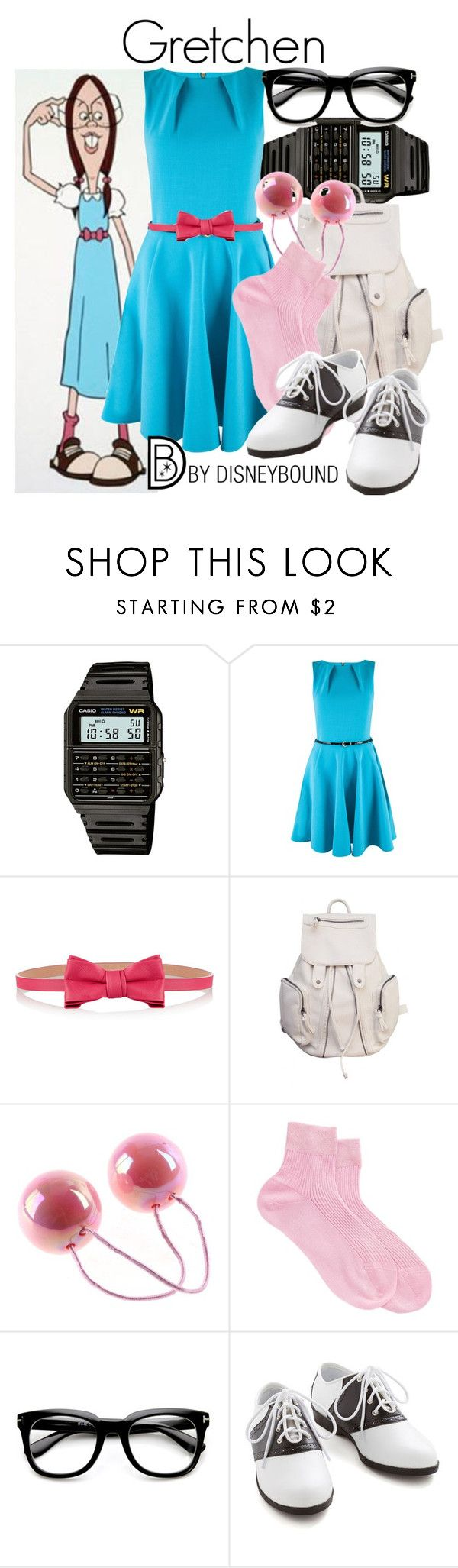 """Gretchen"" by leslieakay ❤ liked on Polyvore featuring GRETCHEN, Casio, Closet, RED Valentino, Maria La Rosa, disney, disneybound and disneycharacter"