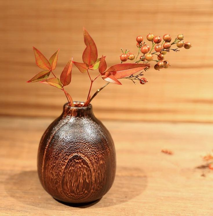 Malek Wooden Vase - Pin for Inspo!