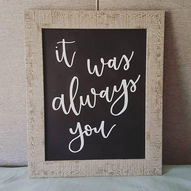 Custom Romantic Wedding Chalkboards by ThroughRainOrShine