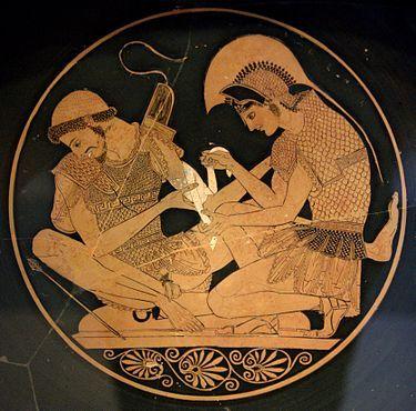 Las obras pictóricas griegas que al presente se conocen y conservan consisten únicamente en decoraciones de ánforas y de otras elegantes vasijas salvo algunos mosaicos de pavimento y placas de arcilla pintadas y sin contar las obras de pintura romana en que intervino mano griega.