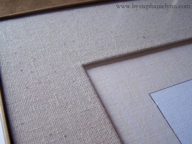 fabric covered photo frame mats