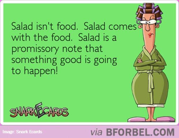 Salad Is A Promissory Noteu2026 #snarkecards Besties Pinterest - promissory note parties
