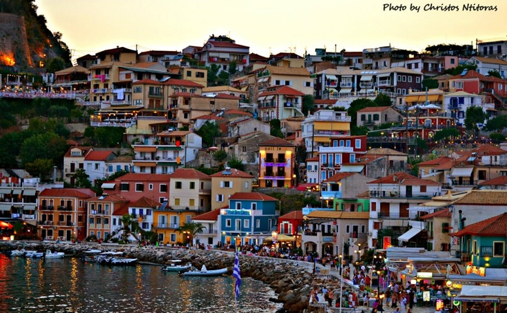 Few Minutes before the night comes in Parga (2012)!    Photo by Christos Ntitoras