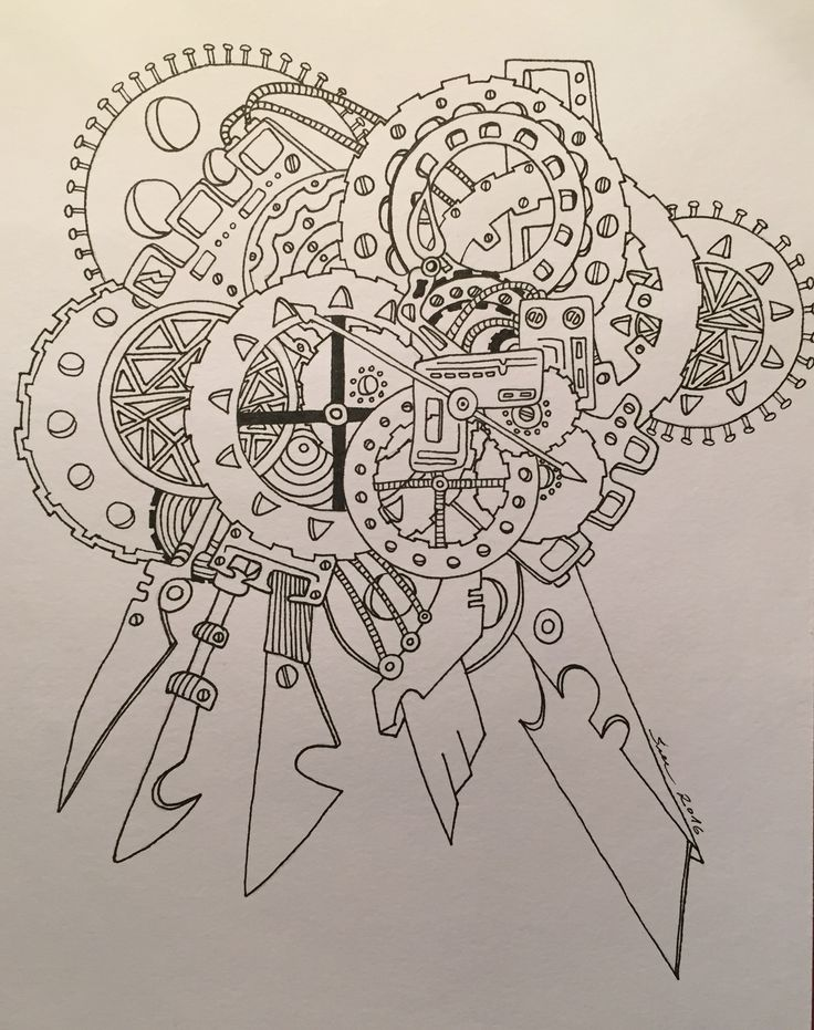 Zentangle /paint / clock / time