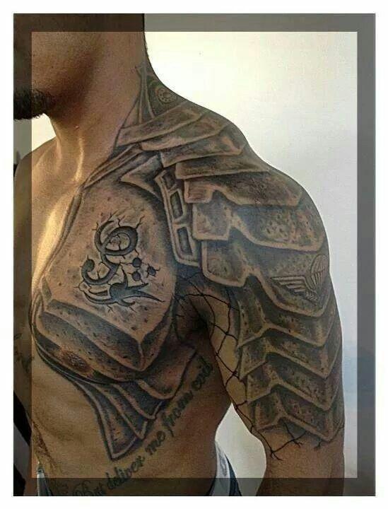 Medieval Armor Tattoos Shoulder armor tattoo