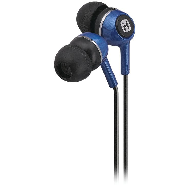 Ihome Noise-isolating Earbuds (blue)