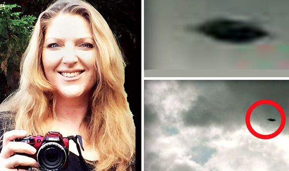 Real Flying saucer? Mum snaps vividly clear photo of UFO