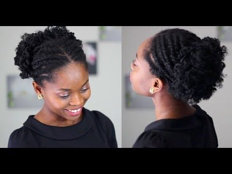 Coiffure Cheveux Crépus Puffy Flat Twist YouTube