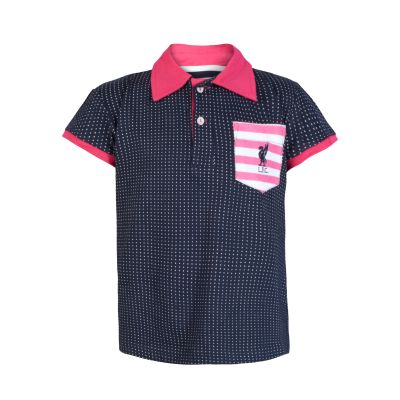 LFC Kids Polka Dot Stripe Polo | Liverpool FC Official Store