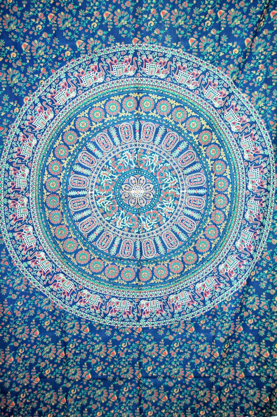 Indian Mandala Tapestry,Hippie Dorm Decor, Bohemian ...