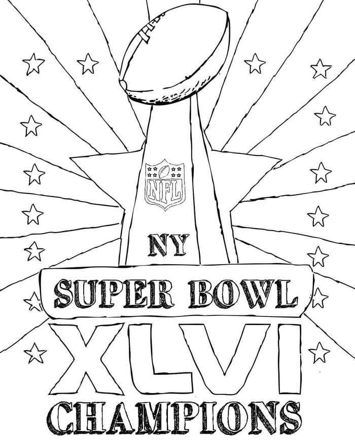 Super Bowl Championship Coloring Page In 2020 Super Bowl Coloring Pages New Year Coloring Pages