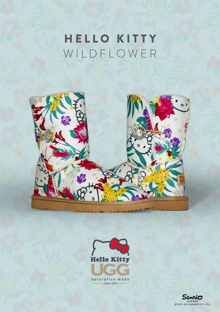Hello Kitty Wildflower Ugg Boots