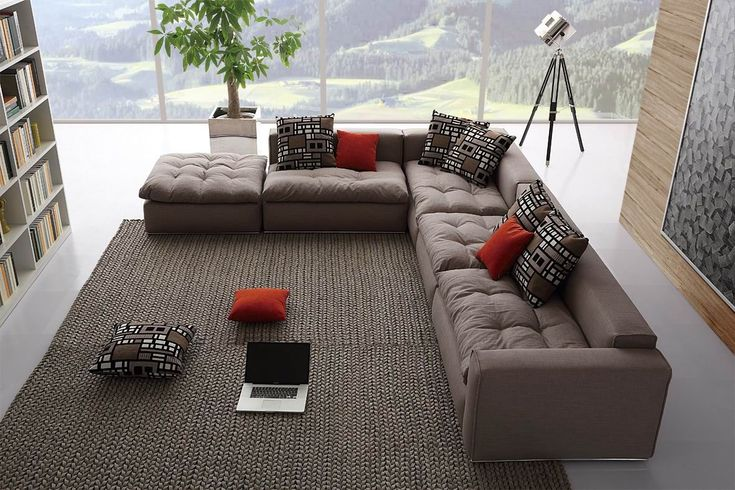 Модульные диваны для гостиной