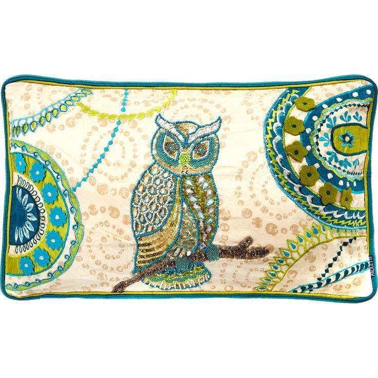 """Paoletti"" Beaded Owl Design Cushion - TK Maxx"