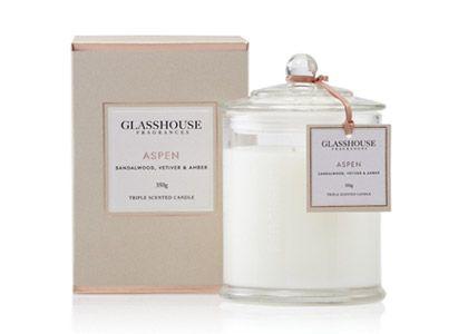 Aspen by Glasshouse - BEST Winter fragrance!  Like being in a Swiss Chalet :)