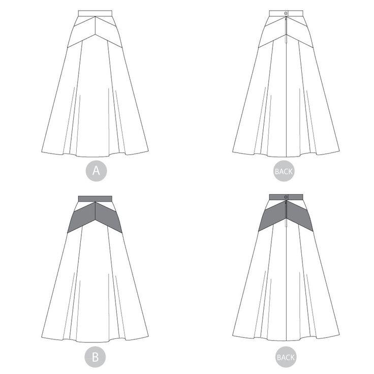 173 best Skirt images on Pinterest   Skirt patterns, Pattern sewing ...