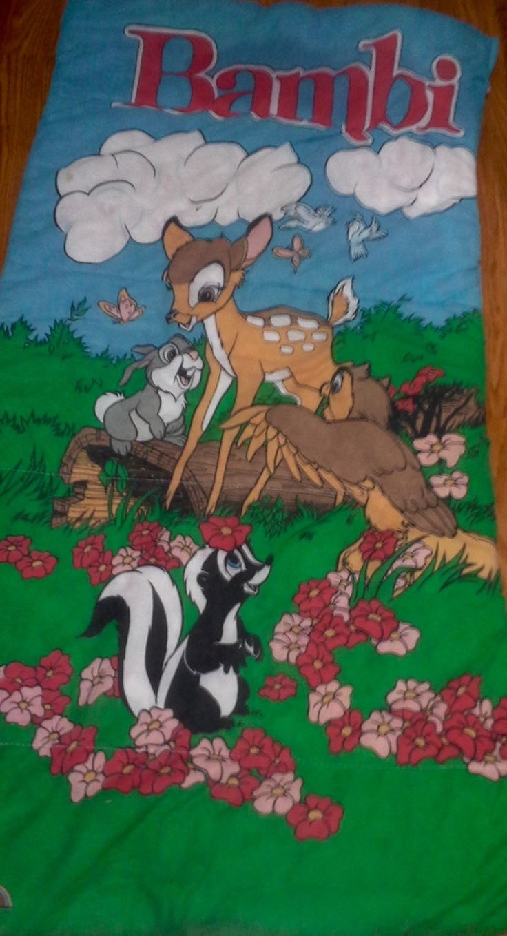 Or sleeping bags clothes pegs optional fairy lights optional - Vintage Bambi Child S Sleeping Bag Kids Slumber Bags Children S Sleeping Bag Disney Sleeping Bag Disney S Bambi Bambi Thumper Flower