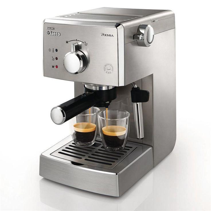 Saeco Poemia Machine Espresso Manuelle - Acier Inoxydable