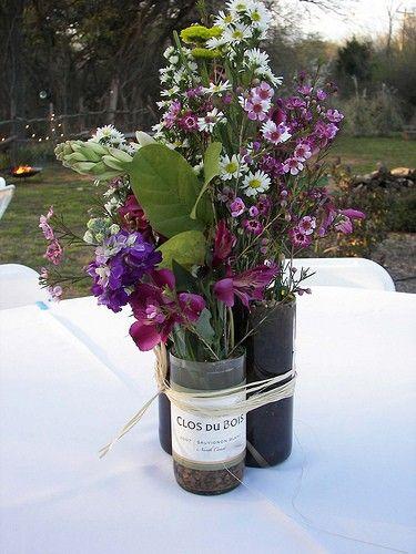 98 best Wedding centerpieces images on Pinterest | Wine bottle ...