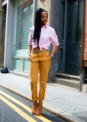 Горчичные брюки (69 фото): с чем носить