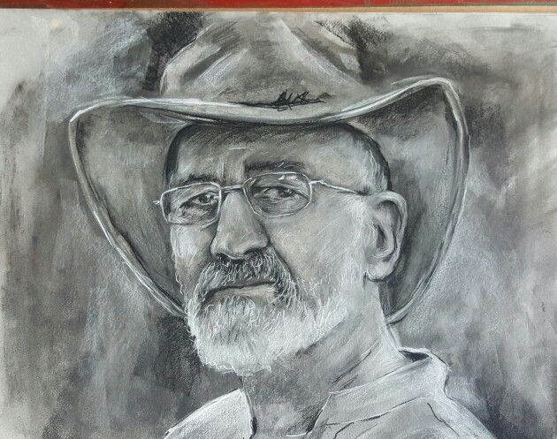 Charcoal sketch of my dad
