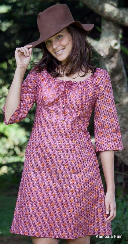 Kampala Fair Signature dress - fairtrade designer clothes made in Uganda. Find it here www.kampalafair.com