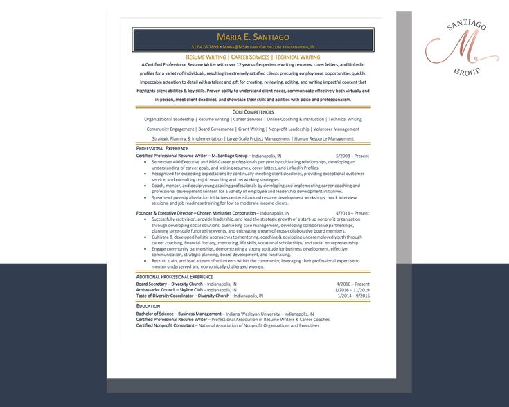 Ats compliant executive resume writing service