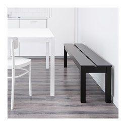 BJURSTA Bench, brown-black - IKEA