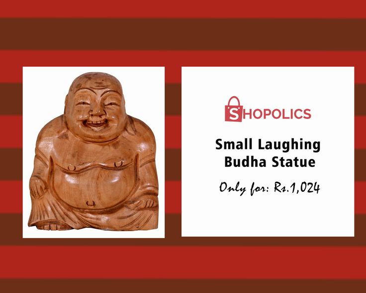 #Small #Laughing #Budha #Statue : This #teakwood #laughingBuddha figurine has been manufactured by an experienced #handicraft team and this statue is highly #durable . Particulars at #Shopolics are: #Weight: 357 g, #Dimensions: 5 in, #Material: #Teak #Wood Shop now:  https://goo.gl/9WbcDt