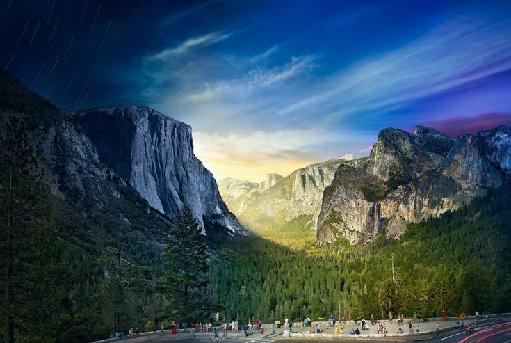 Tunnel View, Yosemite National Park - Day to NightTunnel View, Yosemite 2014