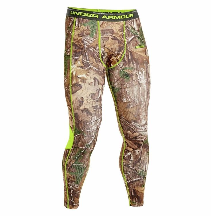 MENS UNDER ARMOUR UA COLDGEAR INFRARED SCENT CONTROL EVO HUNTING CAMO LEGGINGS #Underarmour