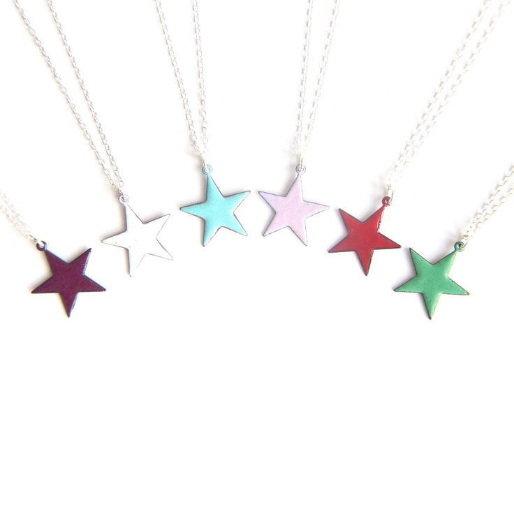 Christmas Star Necklace - you are a star mum / sister / girlfriend / daughter / teacher jewellery gift - Xmas stocking filler star gift enamel jewellery